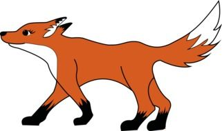 Colorful drawing of the fox clipart
