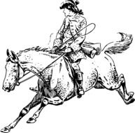 galloping horse with a rider drawing