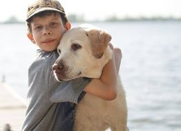 friendship of a boy and dog