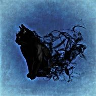 Cat Mystical Abstract drawing