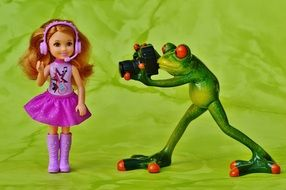 Picture of Photographer Frog and toy