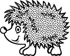 graphic image of a funny hedgehog