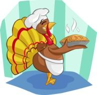 graphic image of a turkey cook