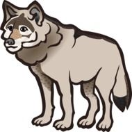 clipart of the grey wolf