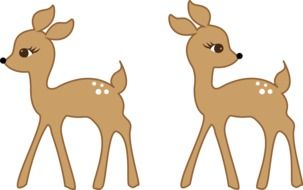 pair of bambi as a graphic image