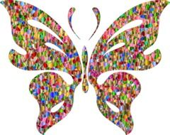 colorful Butterfly, abstract illustration