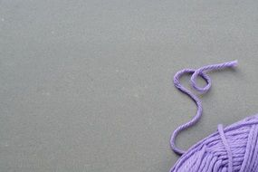 lilac knitting wool