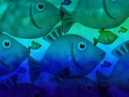 Aquatic fishes clipart