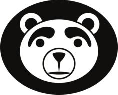 logo black and white bear