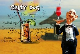 recipe of salty dog cocktail