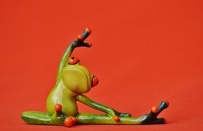 toy frog in yoga