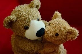 hugging teddy bears