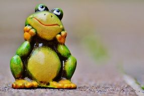 figure of a cute frog