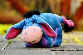 toys for children in the form of a blue donkey
