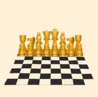 golden Chess on chessboard, illustration
