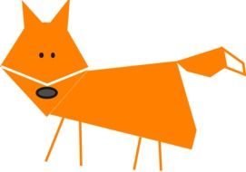 Cute fox clipart