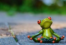 funny Yoga Frog Relaxed figure
