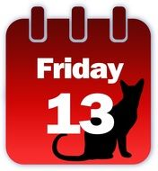 clipart,red calendar with a picture of a cat