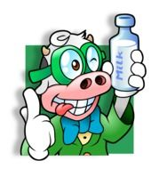 Cow with milk clipart