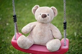 toy in the shape of a bear on a swing