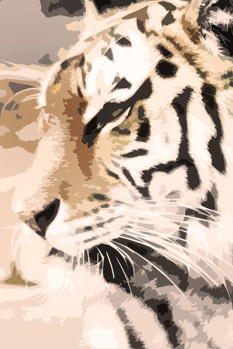 portrait of a peaceful tiger