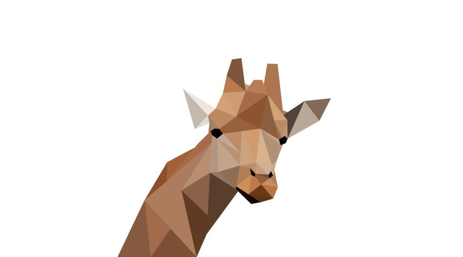 Low poly modeling of giraffe image free image