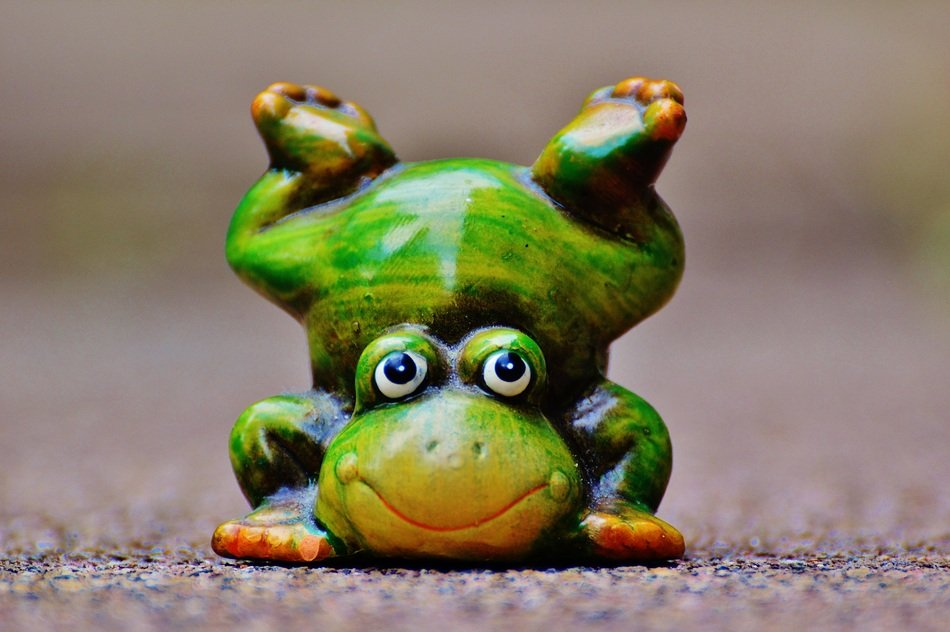 figure of a funny frog