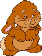 brown funny rabbit as a graphic image