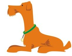 Clip art of orange Dog