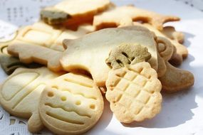 crackers in the form of animals for gourmets