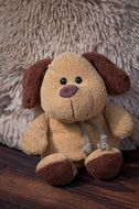 Fabric Dog Brown toy