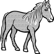 graphic image of a horse at a fine point