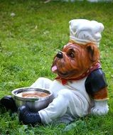 garden figure dog-cook