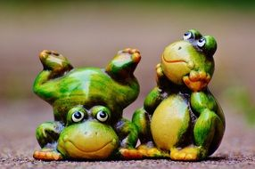 cute figures of frogs