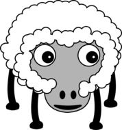 Fluffy sheep clipart