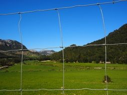 wildlife fence on the valley