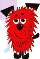Cartoon red Dog drawing