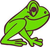 Frog Cartoon profile drawing