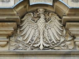 Relief with the bird of prey