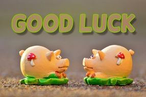 Luck Piglet two figures