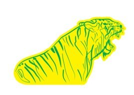 yellow tiger drawing