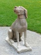 stone statue of a dog