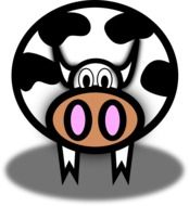 funny Cow cartoon drawing