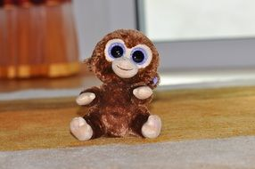 monkey like a soft toy