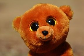 cute teddy bear with glitter eyes