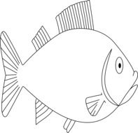outline of a fish