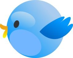 clipart,blue bird-Twitter icon