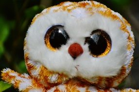 soft toy of a barn owl