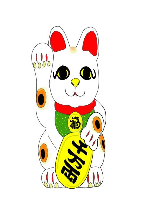 graphic image of a bright japanese mascot