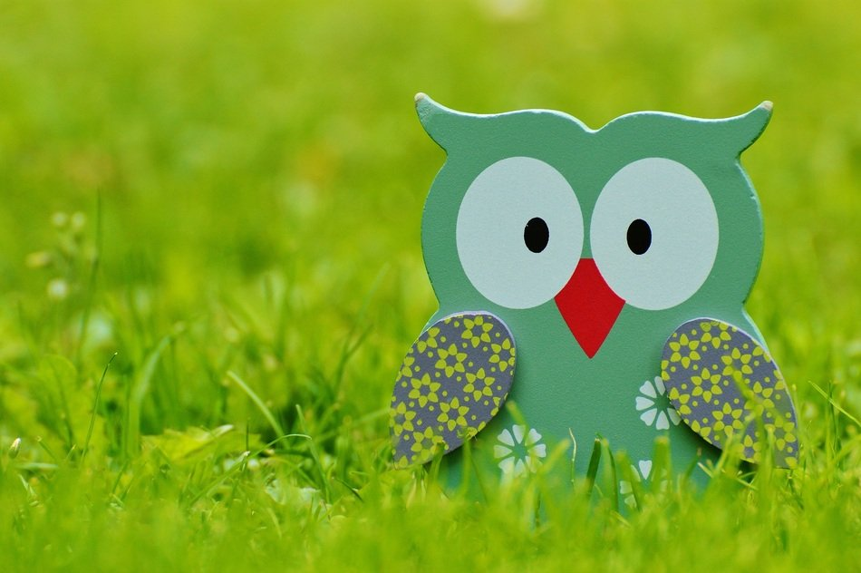 cute wooden figure of on owl